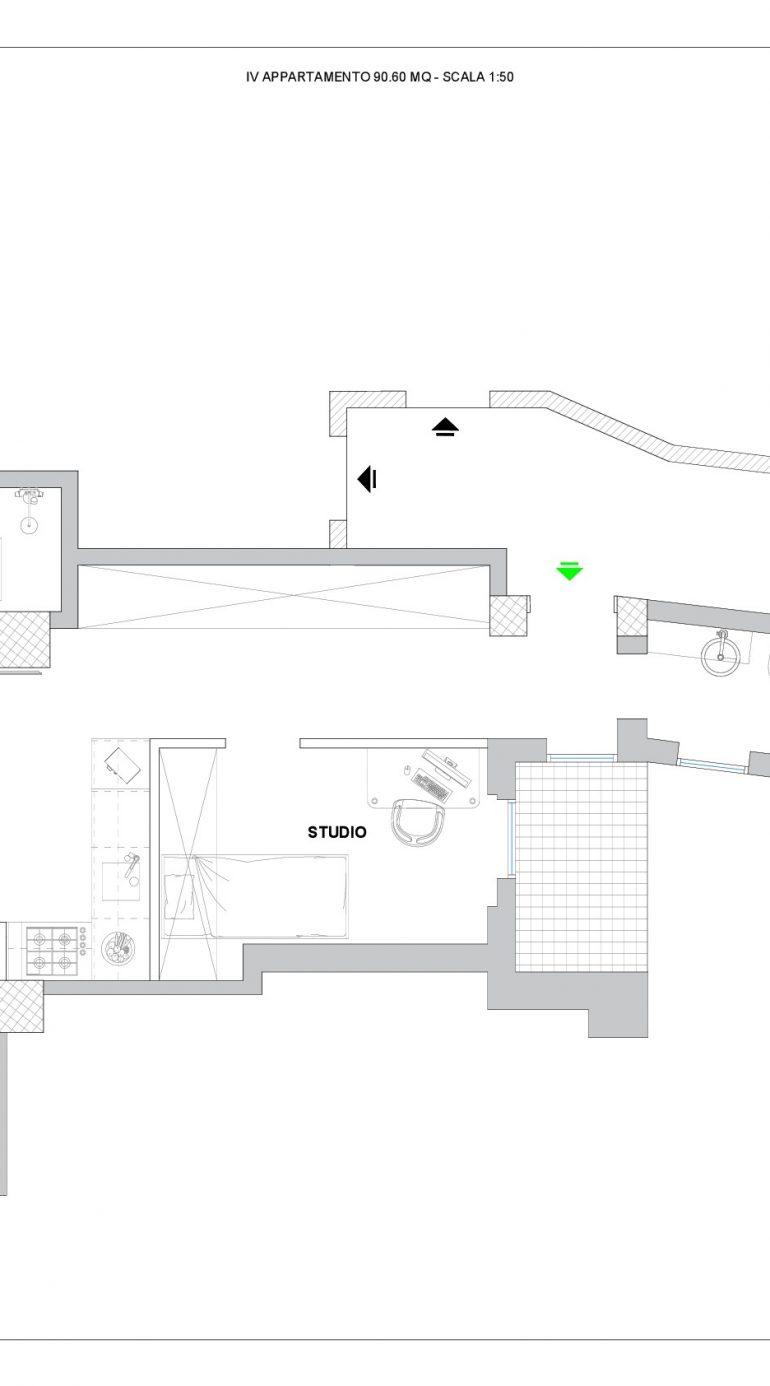 Planimetria Arredata IV Appartamento-001