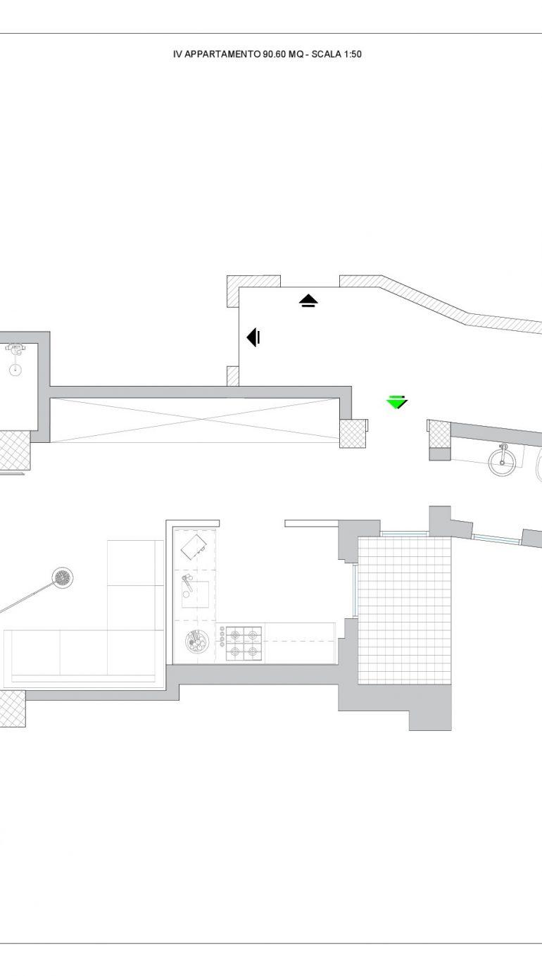 Planimetria Arredata IV Appartamento II Soluzione-001